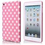 Coque plastique souple motif pois blanc fond rose pour Apple iPad Mini