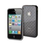 Housse Muvit minigel grise damier iPhone 4/4s + film de protection